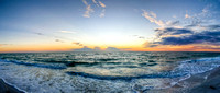 Sunset Over the Gulf in Panorama
