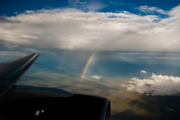 Double Rainbow Blessing In Flight